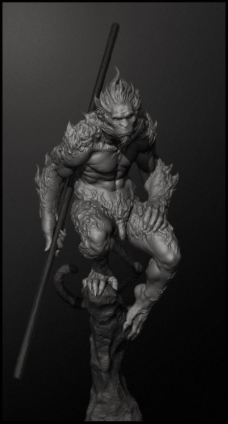 Character Design Hanuman : Best digital sculptures images on pinterest