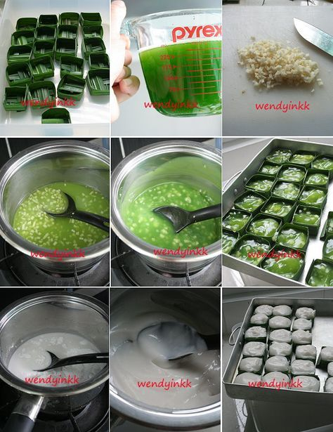 Recipe recreated in September 2011 One of my favourites. If you have an big bush of pandan and don't know how to use it up, make this. Thi...