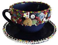 bead and button teacup.. i've been meaning to try this!: Beads Teas, Buttons Crafts, Buttons Teacups, Kids Crafts, Diy Teacups, Buttons Teas, Teacups Jpg, Teacups Crafts, Buttons Cups