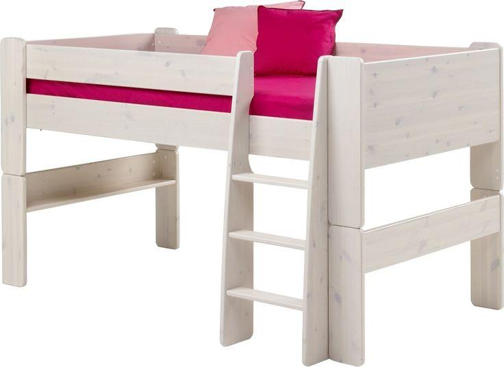 Steens For Kids Mid-Sleeper Frame In Whitewash