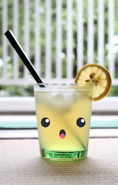 Kawaii lemonade #beverage #cute