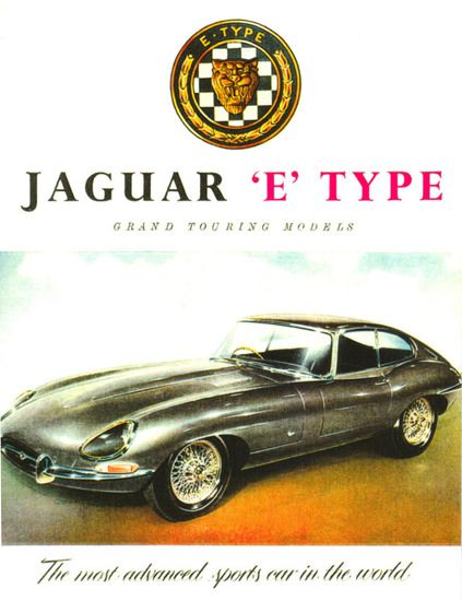 Jaguar No 3 E-Type Coupe 1962 - www.MadMenArt.com | Vintage Cars Advertisement. Features over 1200 of the finest vintage cars until 1970. Status symbol, I want this one because I have always been fascinated by the style of this car ever since I was a kid.