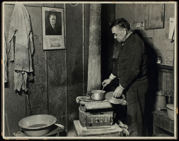 Jere, an unemployed bachelor, at the Scotts Run coal field in West Virginia. 1936.  Lewis W. Hine, courtesy of George Eastman House