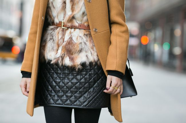 Revenge on Winter :: Mustard coat & Quilted skirt