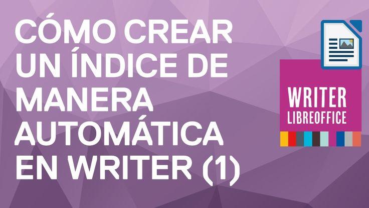 Cómo crear, insertar, modificar un índice automáticamente en Writer de L...