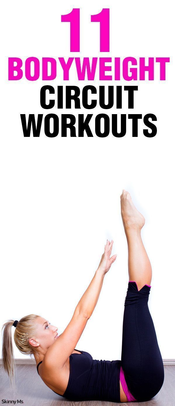 11 Bodyweight Circuit Workouts:  Shape up and shed those unwanted pounds!