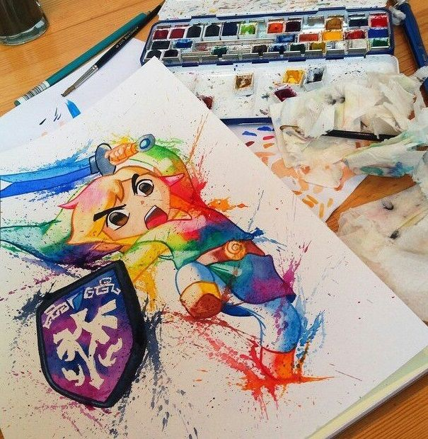 Link color painting. ( By Lisa - Marie Melin)