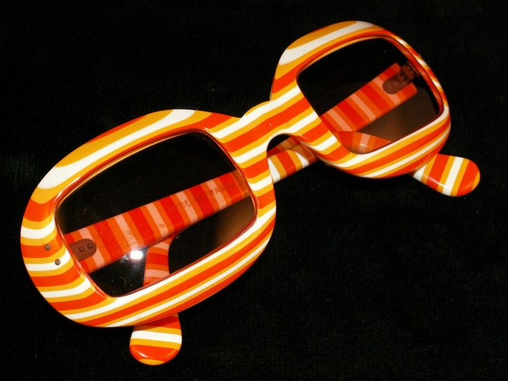 #orange Vintage Mod 1960's Women's Sunglasses - New Old Stock - Made in France
