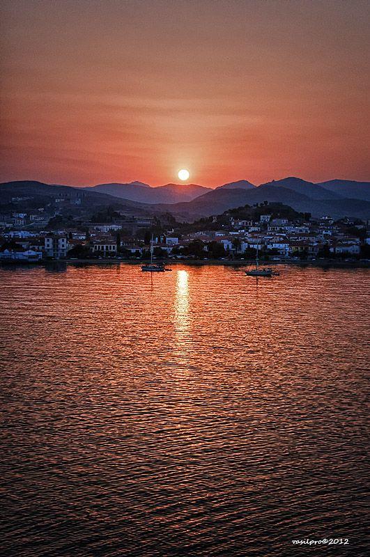 Beautiful sunrise in Myrina, Lemnos