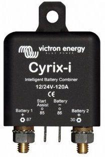 Cyrix skillerelæ som automatisk sammenkobler 2 batterier