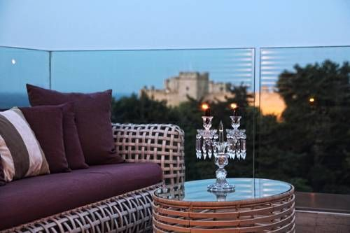 Rodos-park-suites-spa, looking at the medieval city.