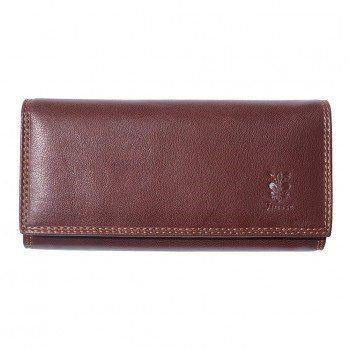 - Zacht kalf leder portemonnee in bruine kleur