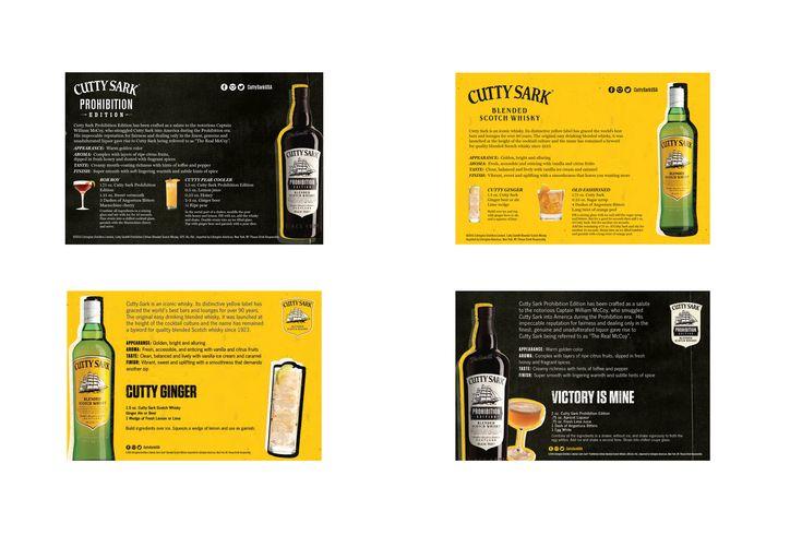 Cutty Sark Scotch Whisky shelf talker design off premise marketing advertising