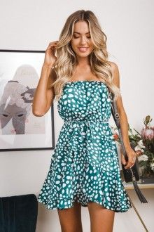 1fe0006de41 ROSETTA MINI DRESS - Jade Polkadot