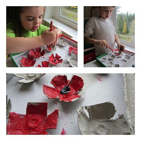 Veterans day wreath poppy wreath for kids