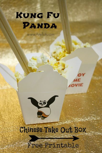 Free Printable Kung Fu Panda Chinese Take Out Box. Kung Fu Panda Party Ideas. Suggestions on Kung fu Panda Party Decoration, Kung Fu Panda Party Favors, Kung Fu Panda Party Food. Plus Print Our Free Printable Kung Fu Panda Chinese Take out Box and Free Printable Activity Sheets. www.anytots.com