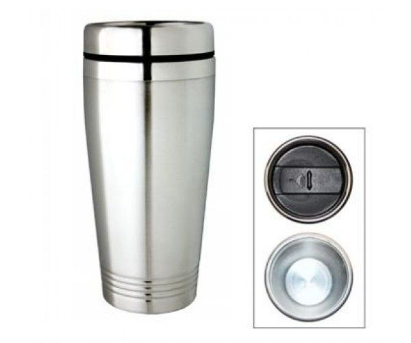 TRAVEL MUGS – M12 Price includes 1 color, 1 position print   2 Color imprint available for an additional charge  Decoration option: Pad print, Screen print, Laser engrave, Heat transfer  Printing Size: 40mm x 40 mm  Laser Engraving Size: 30mm x 40 mm