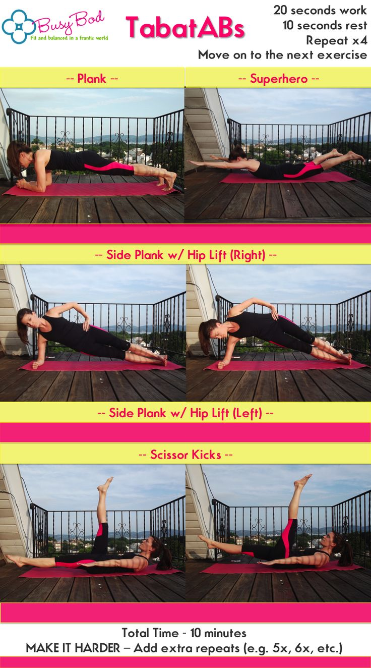 10 min tabata ab workout! one of five workouts in the July Abs Challenge!
