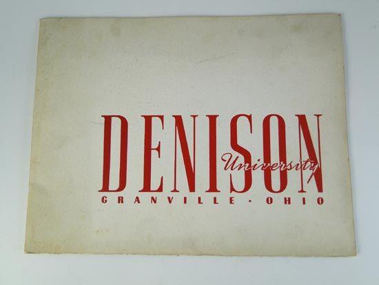 Vintage 1942 Denison University Granville OH Student by 1601tonyh, $9.99