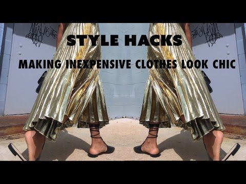 (21) HOW TO MAKE INEXPENSIVE CLOTHES LOOK CHIC | Denim, Skirts, Belts & More - YouTube