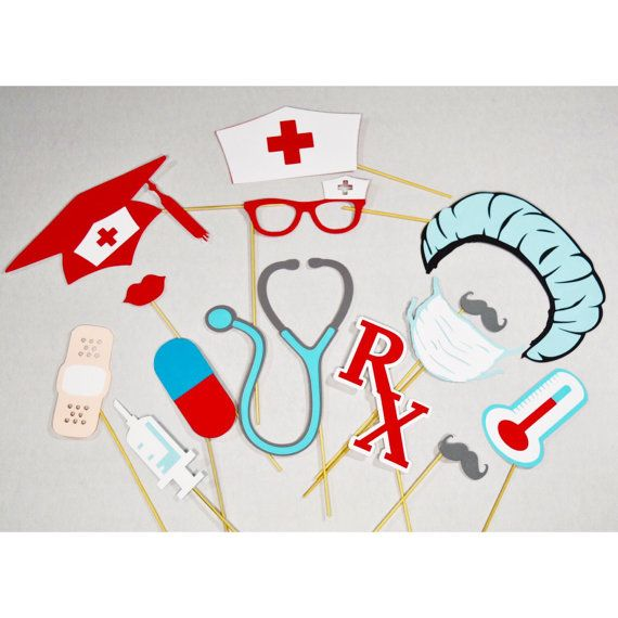 Nurse photo booth props|Doctor 13 pc***