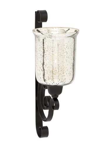 Wall Sconces For Pillar Candles : Mercury Glass Pillar Candle Wall Sconce Let there be LIGHT Pinterest