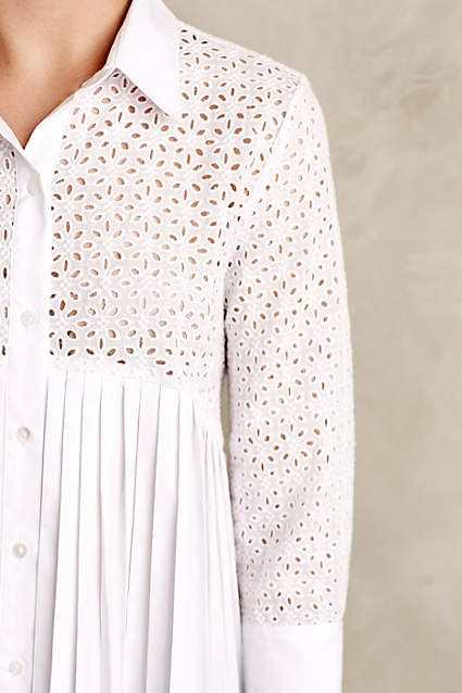 Eyelet Empire Blouse - anthropologie.com