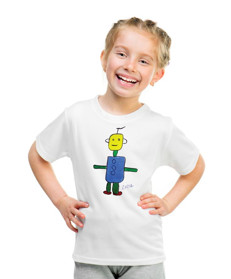 Robot T-shirt with autograph