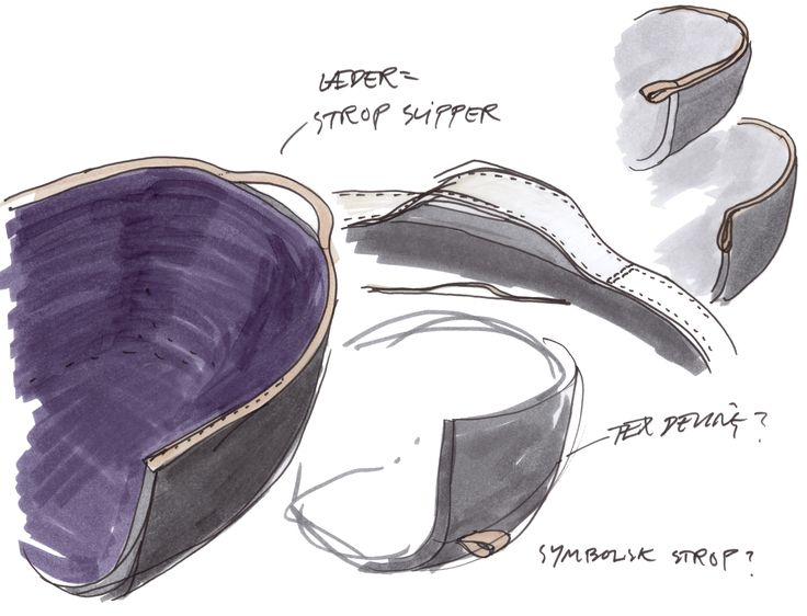 Sketch by Cecilie Manz of the minuscule™ chair