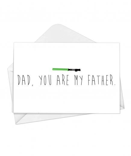 Every Father's Day card should come with a Darth Vader reference.