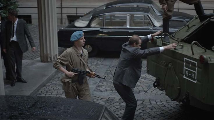 "Hijacking of Alexander Dubcek by Russian commando in the television drama ""We Must Come to an Agreement"".  http://taylor-film.com/agreement/  #Russian invasion  #1968 #cinematographer Prague #Michal Krejci"