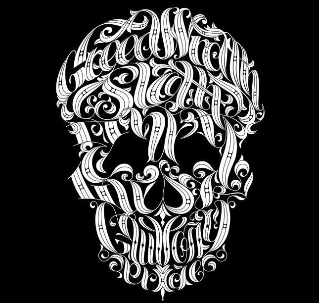Картинки из текста череп