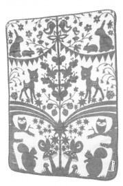 Retro deken Fairytale Forest - Fab Goose (75 x 100 cm)