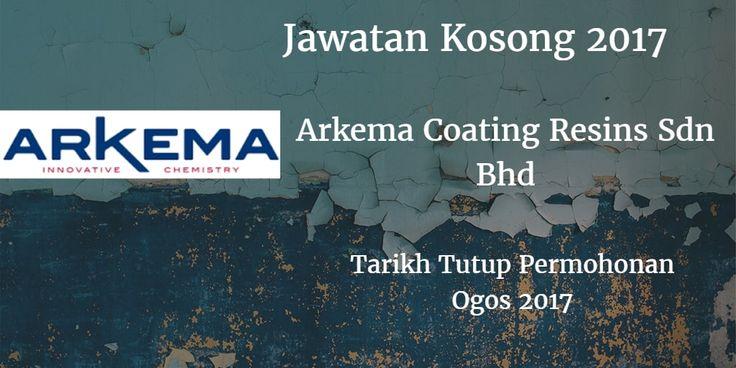 Jawatan Kosong Arkema Resin Coatings Sdn Bhd Ogos 2017