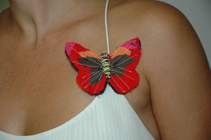 Καρφίτσα Υφασμάτινη Πεταλούδα