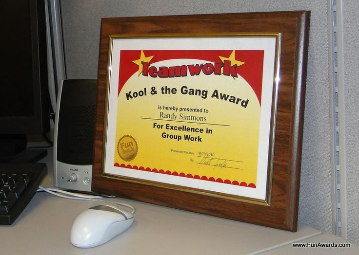 What are some hilarious employee awards?