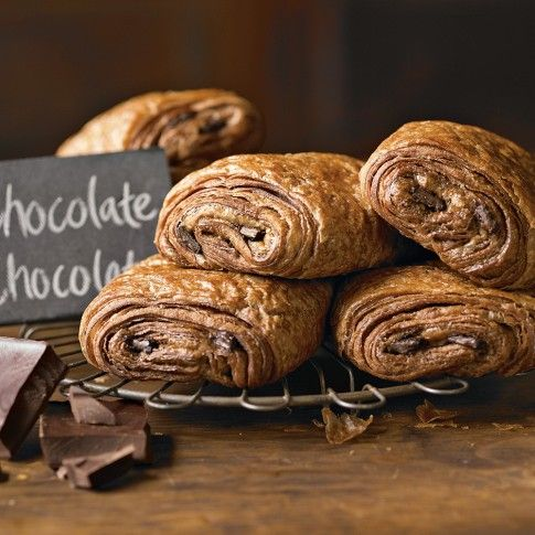 I may just have to try to make these myself. Chocolate, chocolate and carbs...what's not to love?
