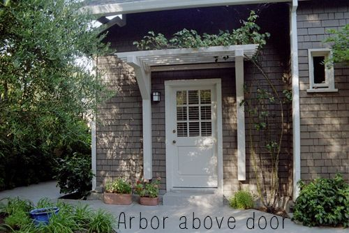 An Arbor Above An Exterior Door Or Window S For The