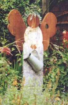 Garden Angels I Need This In My When Finally Get One Wooden Craft Ideas Pinterest Art And