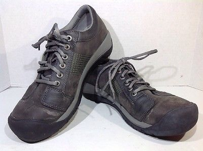 Keen Mens Size 11 Austin Gray Green Leather Casual Fashion Sneakers ZI-1467