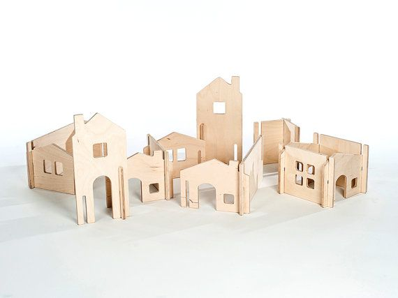 Modular Dollhouse Building Walls, Manzanita Kids, Eco-Friendly Toy