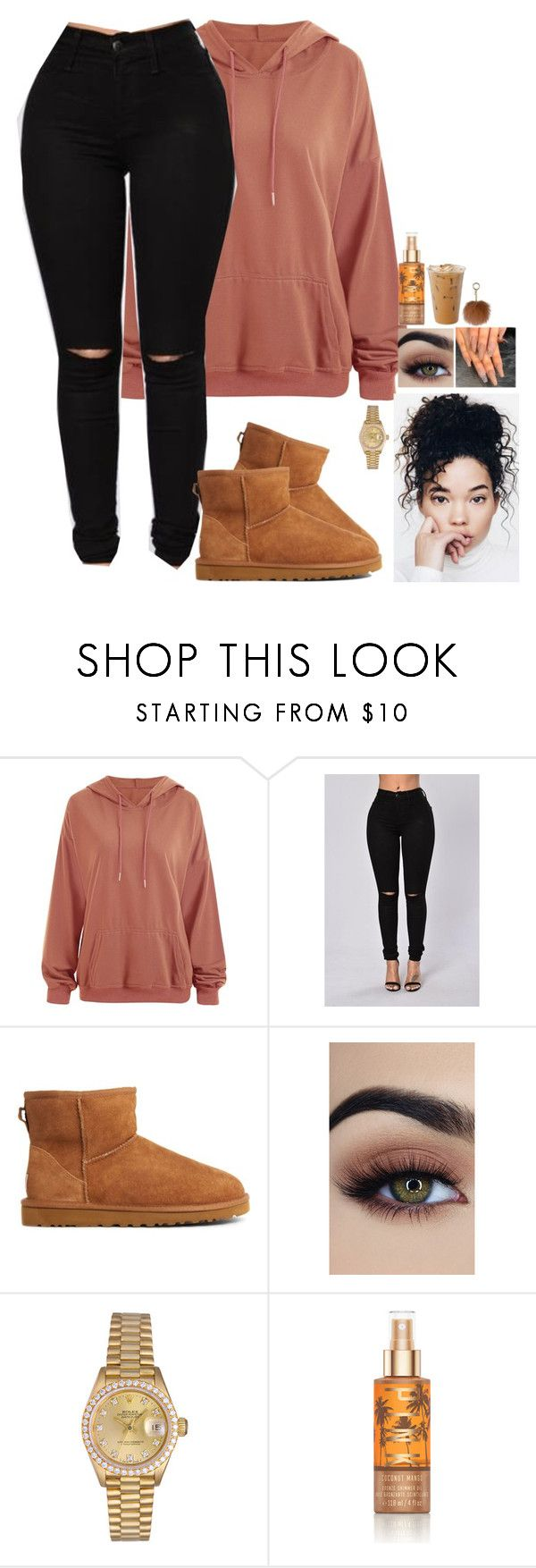 """Untitled #736"" by bosslanaia ❤ liked on Polyvore featuring UGG Australia, Rolex, Victoria's Secret and MICHAEL Michael Kors"