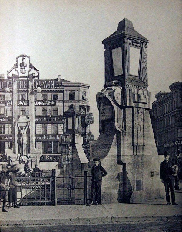 Oranienplatz, Oranienbrücke, erbaut 1905-07 von Bruno Schmitz, BfAuK 1909 / 2