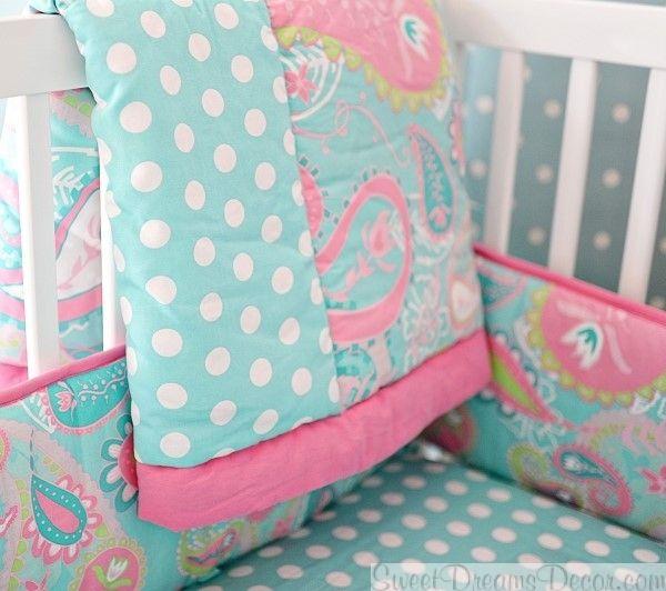 Pixie Baby in Aqua Baby Girl Crib Bedding