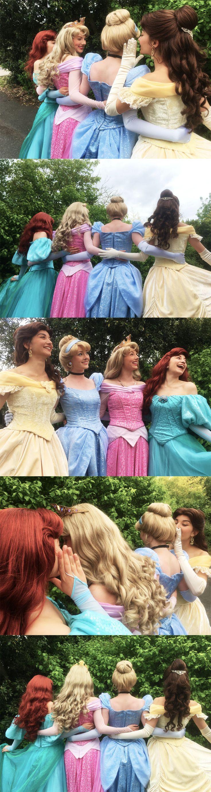 Disney Princesses Cinderella Aurora Ariel Belle Beauty and the Beast Sleeping Beauty The Little Mermaid Disneyland Paris Face Characters Royal Friends Rainbow Pastel.