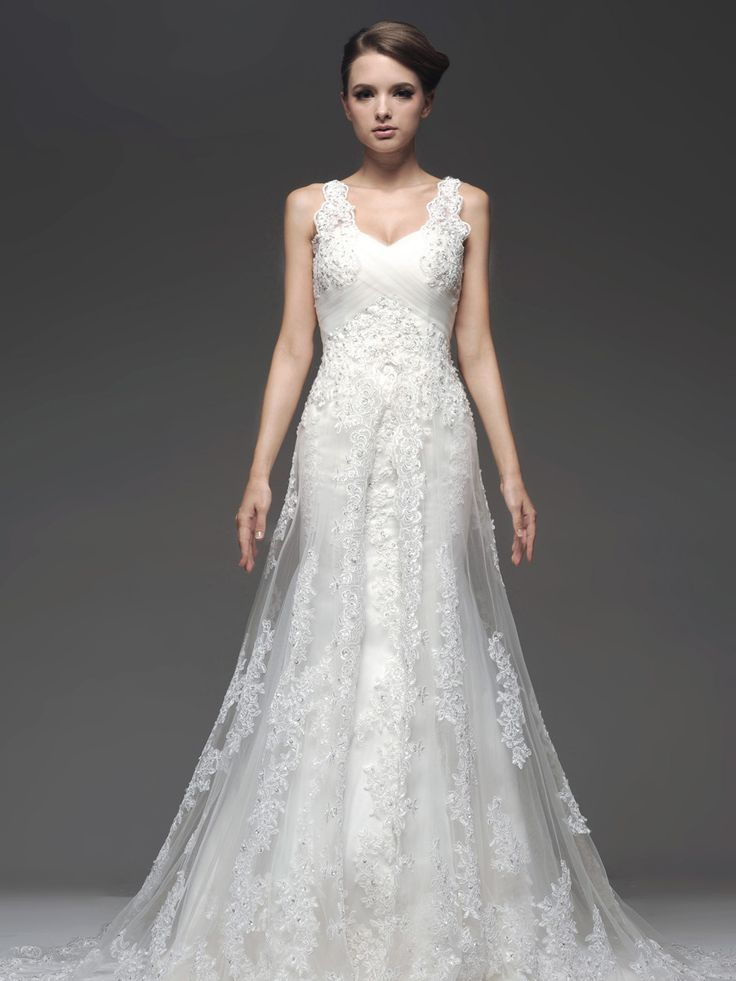 Sleeveless Mermaid Wedding Dress with Beaded and Sequined Lace Brands:SBLFreeship:YESFabric:Satin/Lace/TulleFabric(main):WeddingTailoring Time (Standard):20-25 DaysTailoring Time (Rush Order):15-20 DaysSilhouette:Mermaid/TrumpetNeckline:V-neckSleeve Style:SleevelessBack Detail:Lace-upTrain:Court TrainEmbellishment:Appliques/Beading/SequinFully…