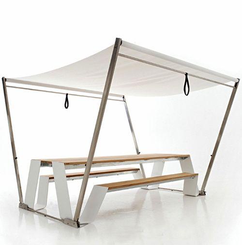 A modern picnic table