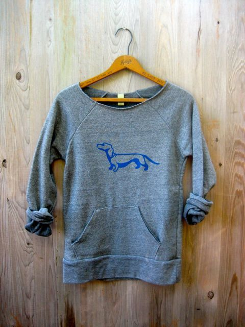 from here to there Dachshund Sweatshirt Doxie by nicandthenewfie, $36.00