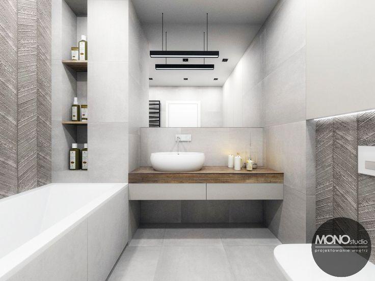 Nasz pomysł na łazienkę w chłodniejszym klimacie.   Więcej o nas znajdziesz na www.monostudio.pl oraz facebook Projektowanie WNĘTRZ pod klucz MONOstudio.pl