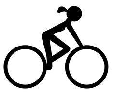 I like this female cyclist icon.